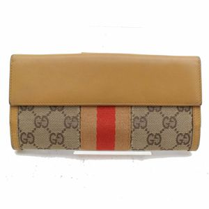 Authentic Gucci Brown Canvas Long Wallet 11339 for Sale in Plano, TX