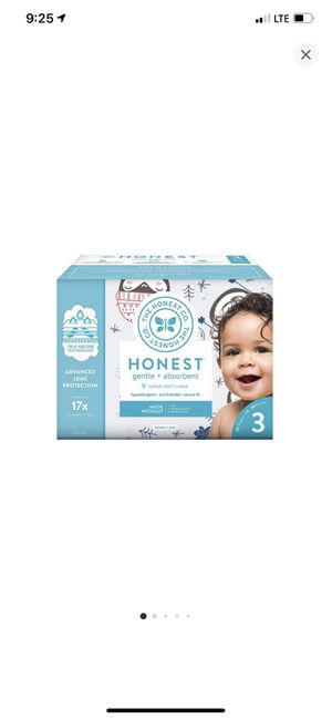Honest diapers 68 count size 3 for Sale in Los Angeles, CA