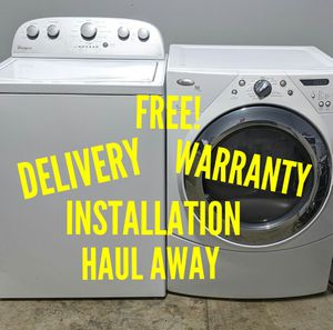 FREE DELIVERY/INSTALLATION/WARRANTY/HAUL AWAY - Whirlpool Washer & Dryer for Sale in Hilliard, OH