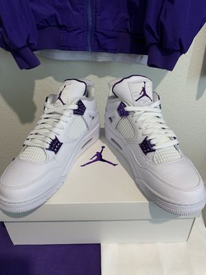 Air Jordan 4 Retro Metallic Purple Mens Size 10.5 for Sale in Adelanto, CA