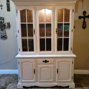 Antique Hutch China Cabinet Kitchen Pantry for Sale in Las Vegas, NV