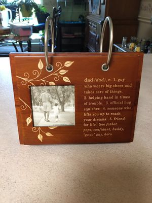 Dad wood photo book for Sale in Milton, FL