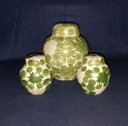 Fujita-Kutani Green Porcelain Ginger Jars for Sale in Bremerton,  WA