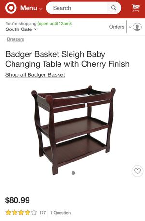 Baby changing table/storage for Sale in Long Beach, CA