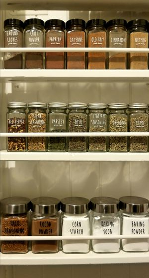 Spice Jars - vinyl label decals for Sale in Wake Forest, NC