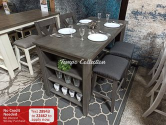 New 5pc Counter Height Dining Set, Grey, SKU# ASHD388TC for Sale in Santa Fe Springs,  CA