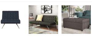 Futon Lounge...Grayish Blue for Sale in Brooklyn, NY