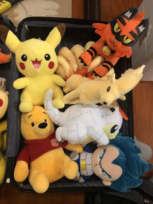 $7 Each. Buy 3 get 1 free or $35 ALL! NEW authentic Plushies with Tag Japan Disney Pokemon for Sale in Gardena, CA