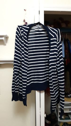 Old navy cardigan- black and stripes/navy for Sale in Orlando, FL