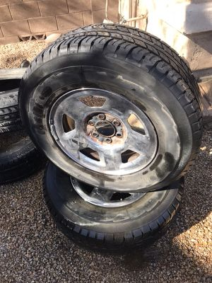 CHEVY RIMS. SET OF TWO 40$ for Sale in Phoenix, AZ