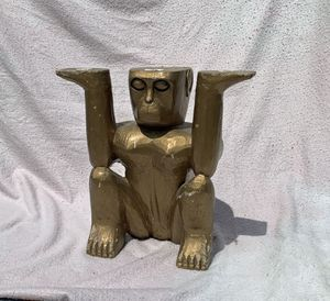 Antique distressed gold wooden ape for Sale in Sterling, VA