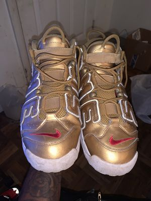 Supreme Nike Air Uptempo Metallic Gold for Sale in Fort Washington, MD