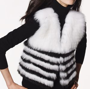 Neiman Marcus Blue Fox Fur from Finland Cashmere Vest sz Large NWT Retail Price: $795. for Sale in Vienna, VA