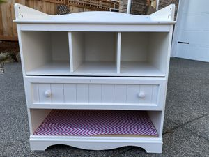 Diaper Changing table with storage for Sale in Bellevue, WA