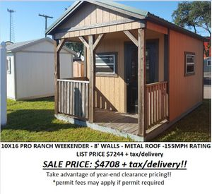 Tuff Shed - 10x16 Weekender Series for Sale in Tampa, FL