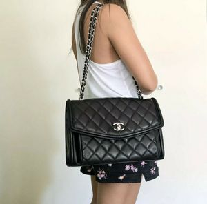 Authentic Chanel Jumbo Black Classic Flap Bag for Sale in Santa Ana, CA