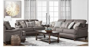 Driftwood (Wood Trim) sofa , loveseat and chair for Sale in Houston, TX