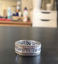 New! Sterling Silver Cubic Zirconia Ring for Sale in Newton,  MA