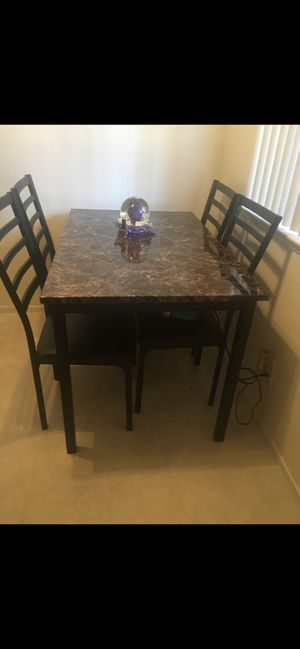 Dinning table with 4 chairs for Sale in San Jose, CA