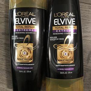 L'ORÉAL elvive total repair extreme shampoo and conditioner set for Sale in San Bernardino, CA