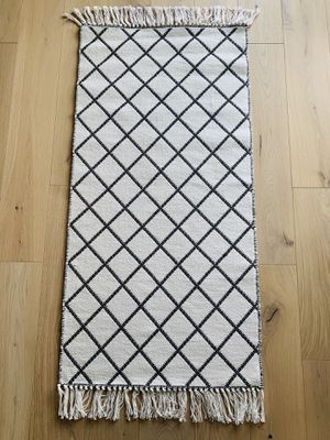 H&M Cotton Area Rug Jacquard Weave Washable for Sale in Bellevue, WA