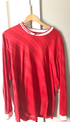 Supreme Red soccer jersey XL for Sale in Waltham, MA