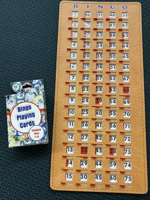 Bingo Master Board Slider and Deck of Bingo Calling Cards BRAND NEW for Sale in Garden Grove, CA