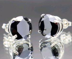 ❤SALE❤❤Real 2.40 TCW Black Diamond Solid 925 Sterling Silver Stud Earring RETAIL PRICE $1400 for Sale in Aspen Hill, MD