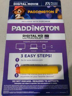 Paddington & Paddington 2 HD Digital Code Bundle for Sale in San Fernando,  CA