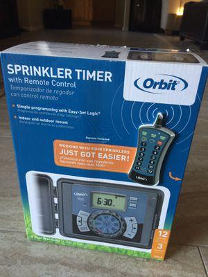Orbit Remote Control 12 station Sprinkler Timer - NEW for Sale in Mesa, AZ