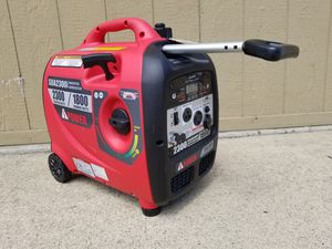 GENERATOR INVERTER I-POWER SC2300I SILENT 2 wheels and telescoping stainless steel handle TESTED STARTS FIRST PULL for Sale in Chino Hills, CA