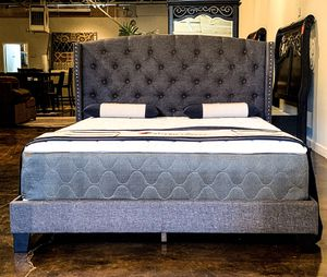 King bed plus King plush mattress (free delivery) for Sale in Austin, TX