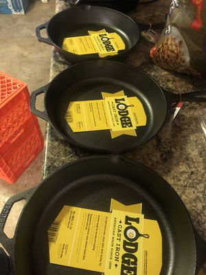Lodge cast iron skillets for Sale in Philadelphia, PA