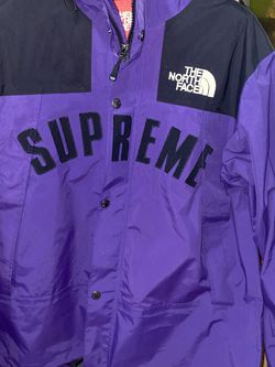 The North Face x Supreme Arc Logo Parka Hoodie Jacket Shell Purple Coat Men's Large Not Black Red Yellow Blue for Sale in Jersey City,  NJ