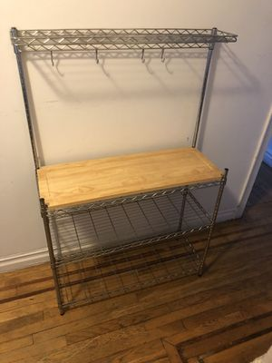 Kitchen Wire Shelves w/Cutting Board - Delivery Available for Sale in Queens, NY