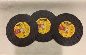 3- DEWALT DW8020 Portable Saw Cut Off Wheel- NEW! for Sale in Laurel, MD