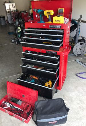 2 Tier Craftsman tool box. All tools included. for Sale in Atwater, CA