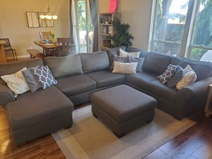 Sectional Couch and Attoman: Stanton Fruniture for Sale in Vancouver, WA