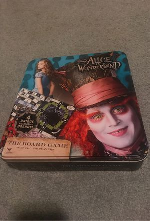 Disney's Alice and wonderland board game tin for Sale in Graham, WA