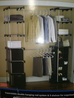 Double Hanging Closet Organizer for Sale in Chula Vista, CA
