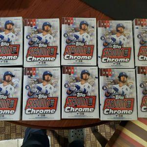 Topps Stadium Chrome Baseball (10 Boxes) for Sale in Arlington, VA