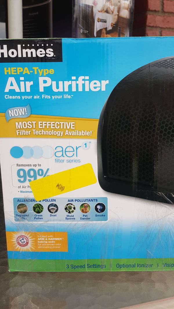Holmes hepa type air purifier removes 99% air pollutants