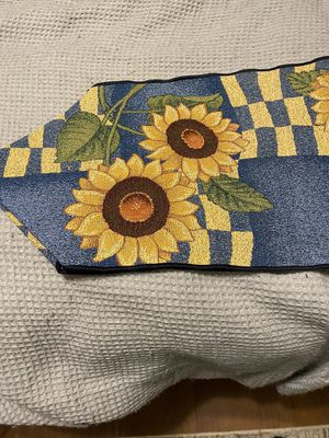 Beautiful sunflower table runner for Sale in Wallingford, CT
