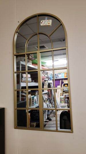 NEW Window Style Wall Hanging Gold Mirror for Sale in Burlington, NJ