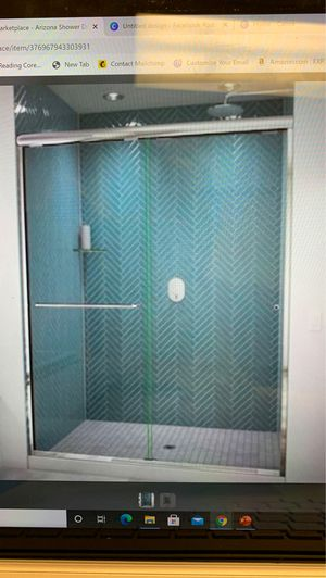 Arizona Shower Door Euro 70.5-in H x 56-in to 60-in W Semi-Frameless Bypass/Sliding Polished Chrome for Sale in Murfreesboro, TN