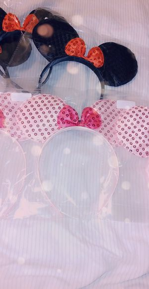 Pink Minnie mouse ears for Sale in Riverside, CA