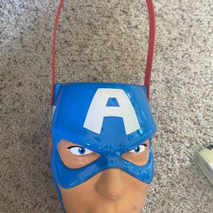 Captain America Bucket For Halloween Or Easter for Sale in Riverside, CA