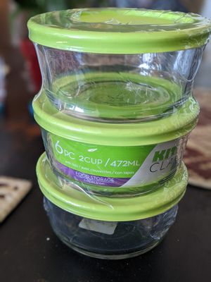 2 cup glass food storage containers ×3 for Sale in Spring Valley, CA