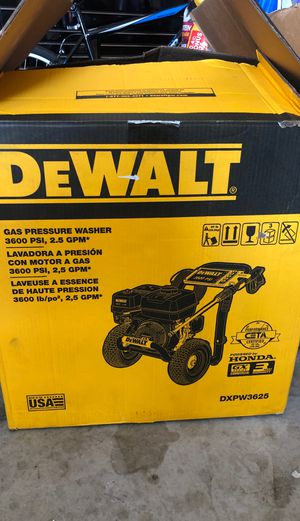 DEWALT GAS PRESSURE WASHER 3600 PSI for Sale in North Las Vegas, NV