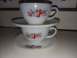 Set of 2, Fire King Primrose Cups and Saucers for Sale in Berlin, CT